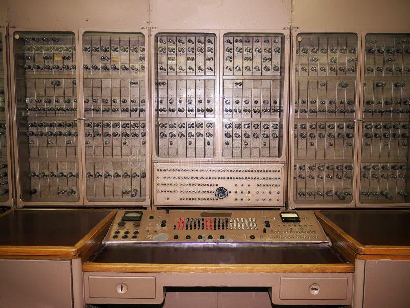 Russische historische Elektronenrechenanlage lizenzfreies stockbild