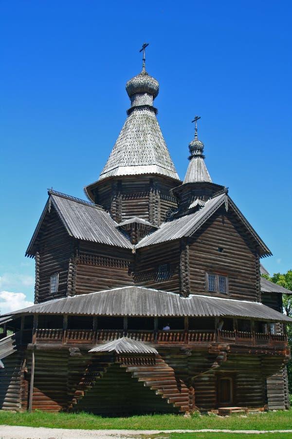 Russische houten kerk royalty-vrije stock foto's