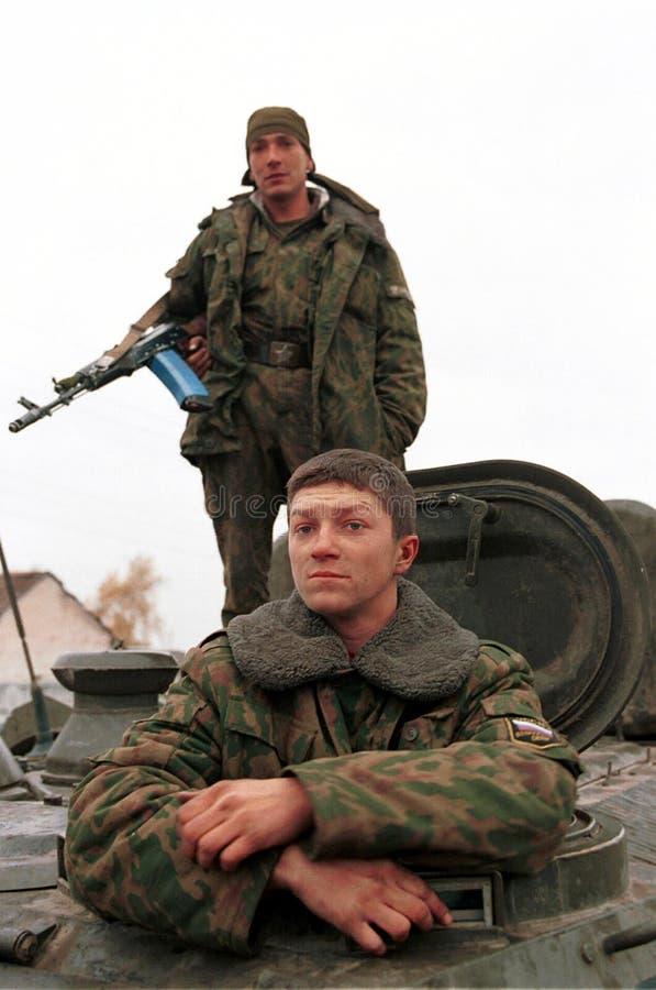 RUSSISCHE INVASION VON TSCHETSCHENIEN lizenzfreies stockbild