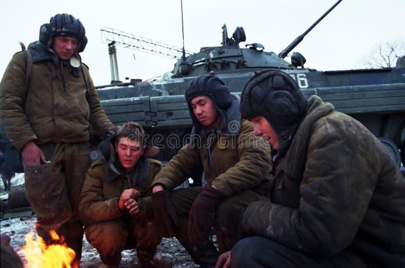RUSSISCHE INVASION VON TSCHETSCHENIEN lizenzfreie stockfotos