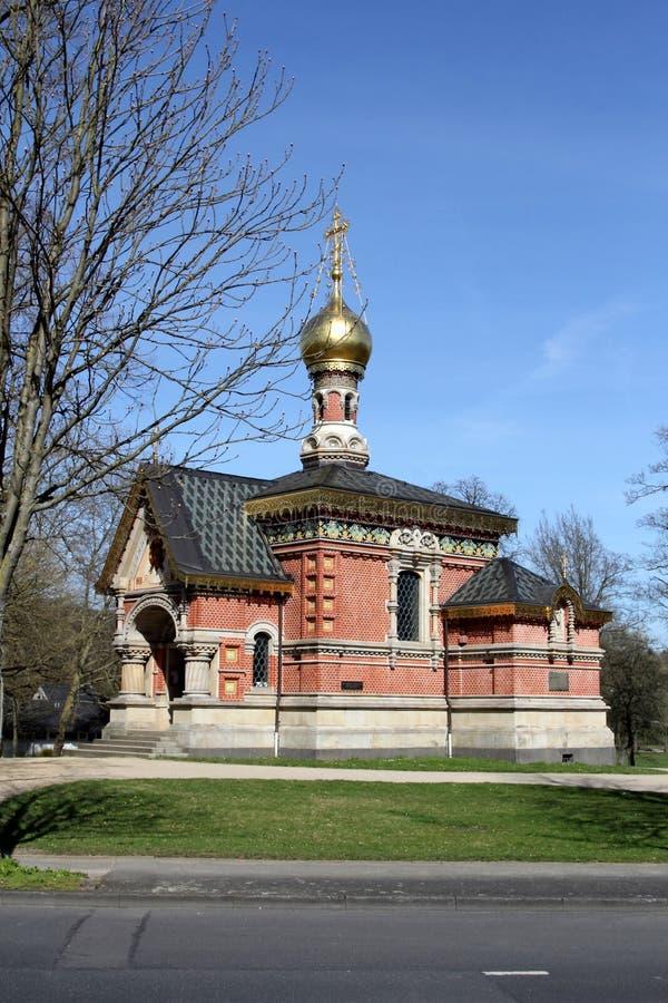 Russische Kapel in Slechte Homburg, Duitsland royalty-vrije stock afbeeldingen
