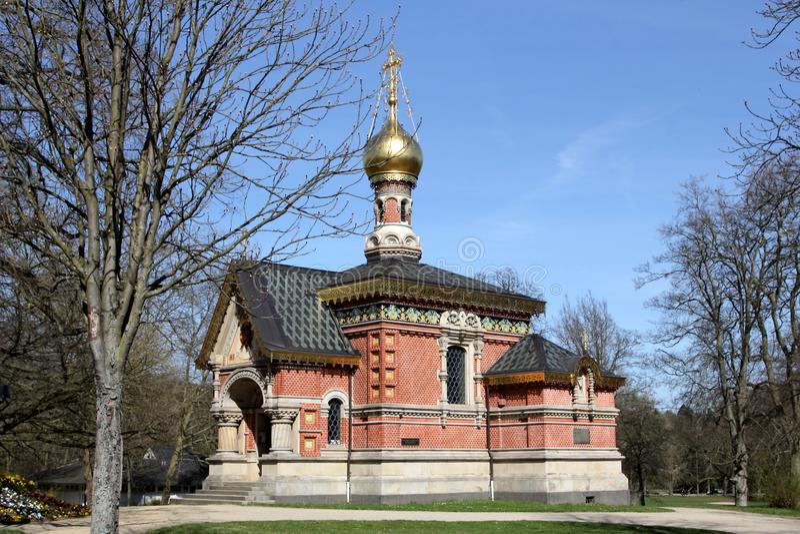 Russische Kapel in Slechte Homburg, Duitsland royalty-vrije stock foto