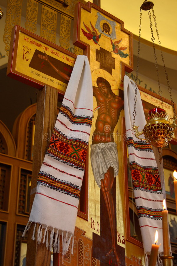 Russische Kerk Othordox in Seattle, WA stock fotografie