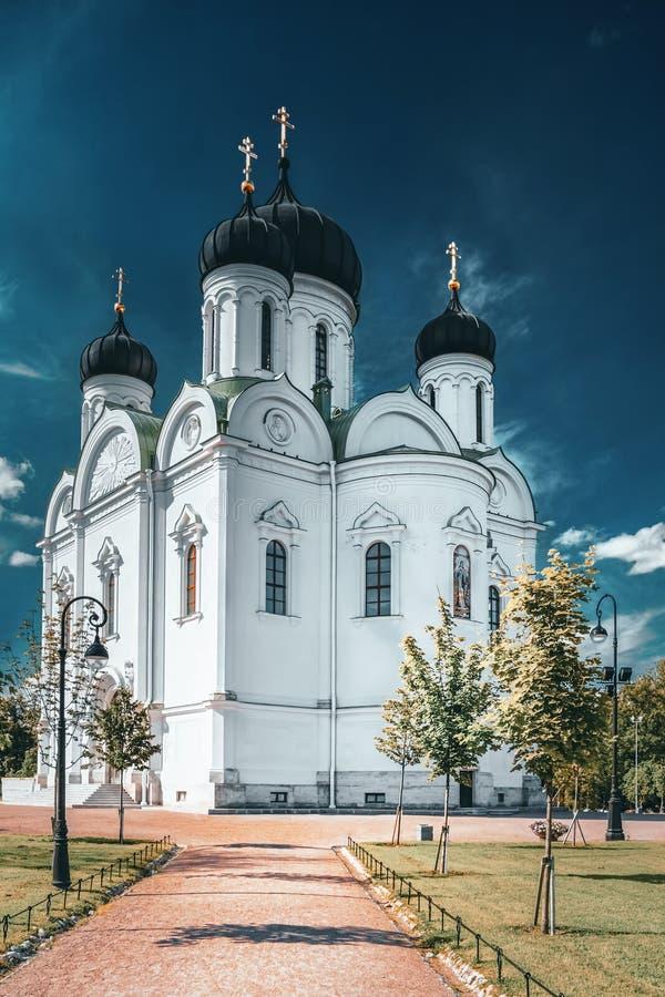 Russische kerk in Pishkin, Sint-Petersburg stock afbeelding