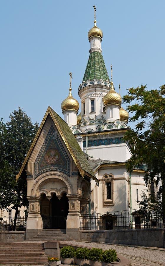 Russische kerk in Sofia royalty-vrije stock foto