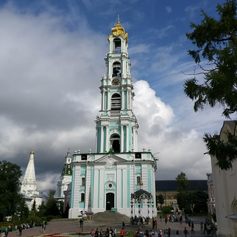 Russische Kirche in Moskau, Sergiev Posad lizenzfreies stockbild