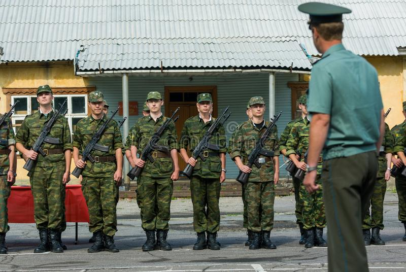Russische legersc?ne royalty-vrije stock afbeelding