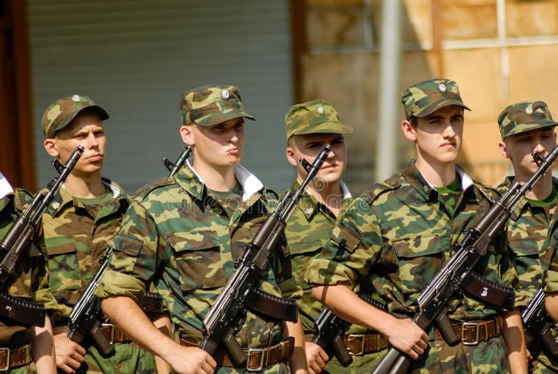 Russische legersc?ne royalty-vrije stock afbeeldingen