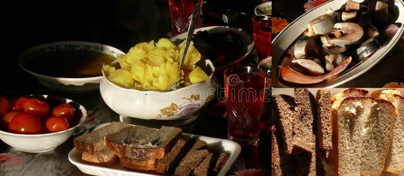 Russische maaltijd royalty-vrije stock fotografie