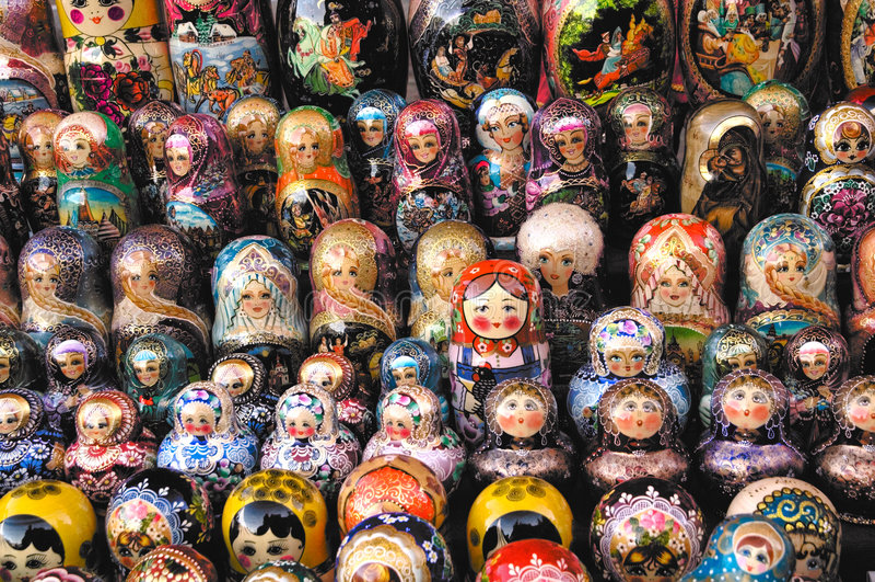 Russische matreshka stock afbeelding