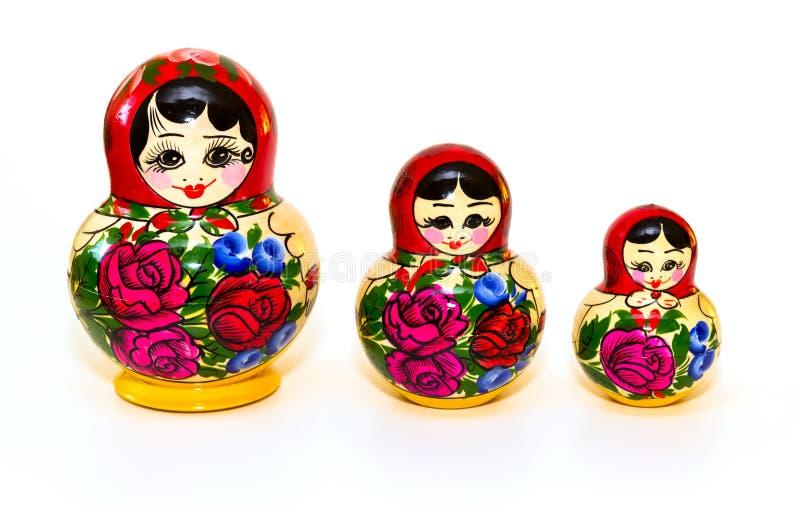 Russische Matryoshka-pop vooraan royalty-vrije stock fotografie