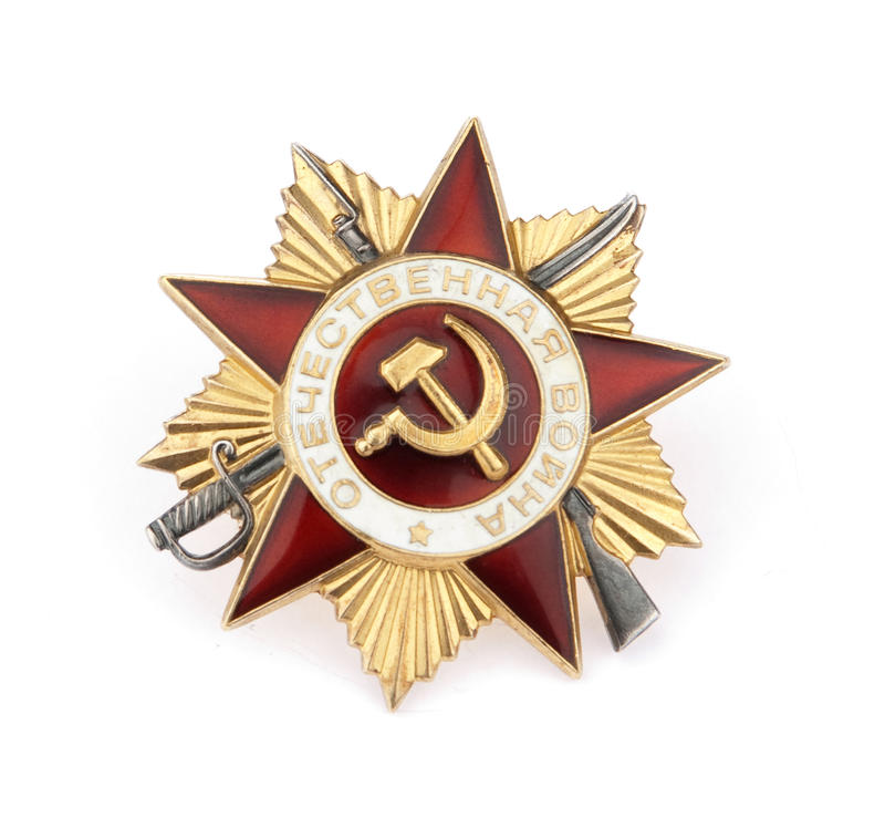 Russische Militärmedaille stockfotos
