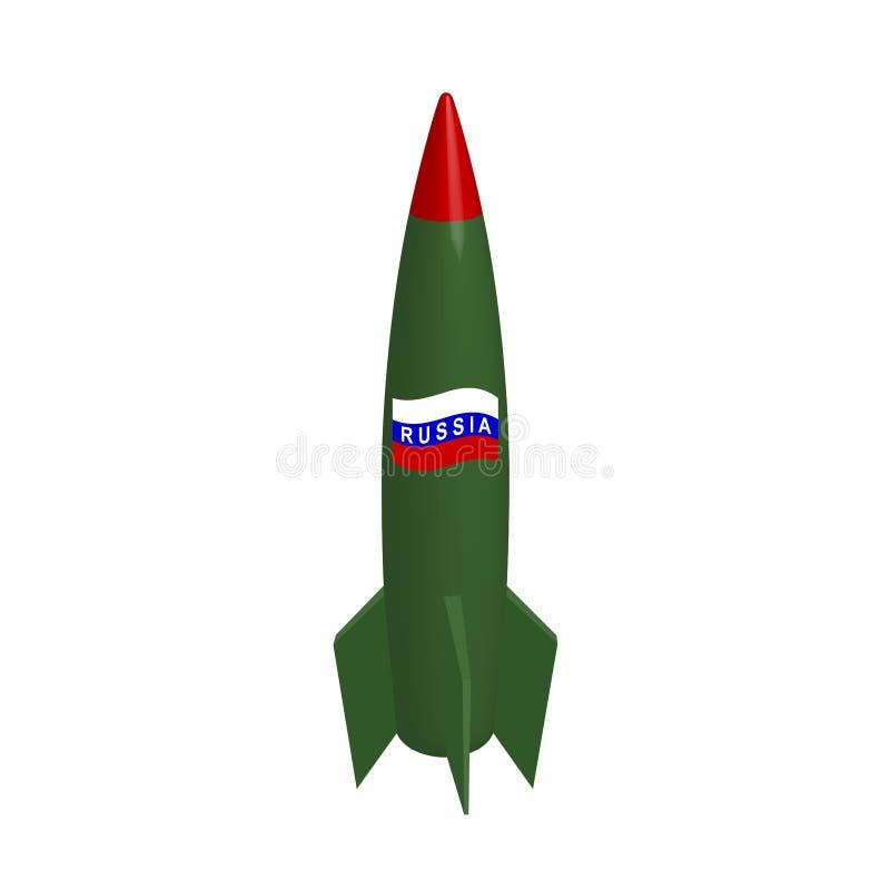 Russische Militärrakete in lizenzfreie abbildung