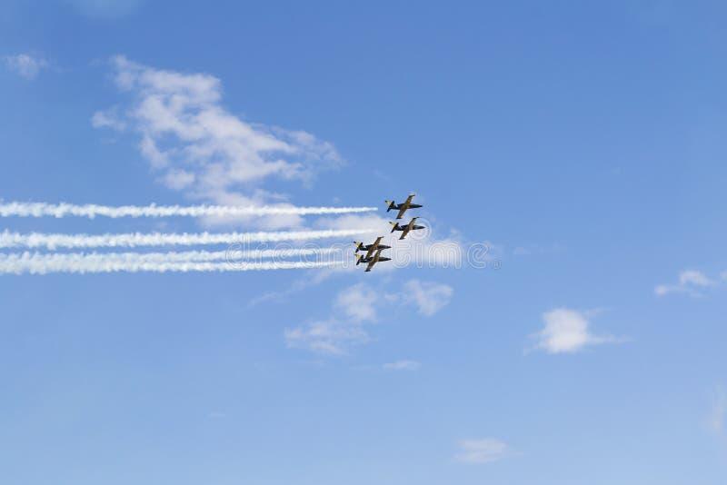 Russische militaire vliegtuigen stock foto's