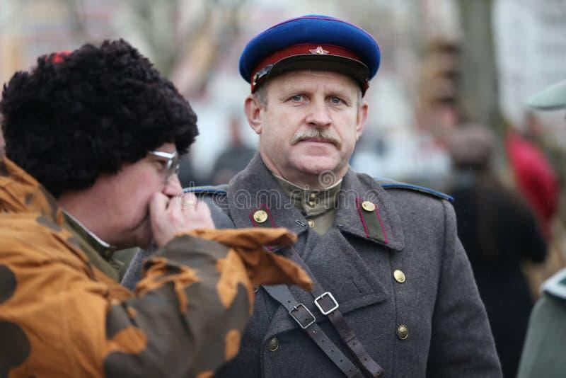 Russische militairen van de Tweede Wereldoorlog royalty-vrije stock foto