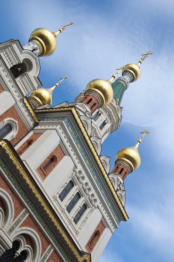 Russische orthodoxe Kathedrale in Wien lizenzfreies stockfoto