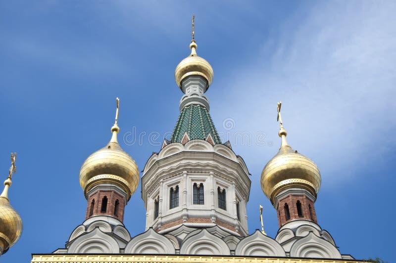 Russische orthodoxe Kathedrale in Wien stockbilder