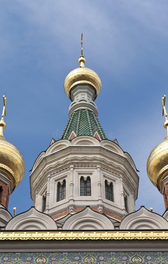 Russische orthodoxe Kathedrale in Wien stockbild