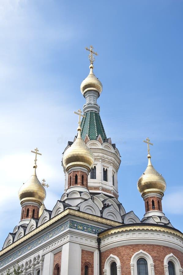 Russische orthodoxe Kathedrale in Wien stockfoto