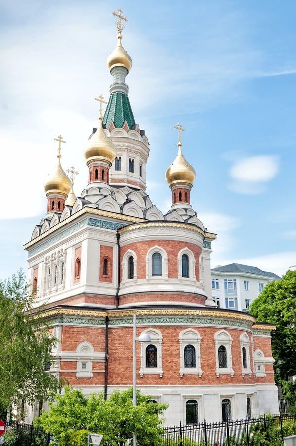 Russische orthodoxe Kathedrale in Wien lizenzfreie stockbilder