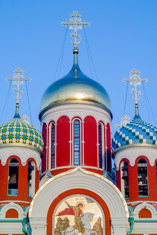 Russische Orthodoxe Kerk ter ere van Heilige George in het Kaluga-gebied (Rusland) royalty-vrije stock afbeelding
