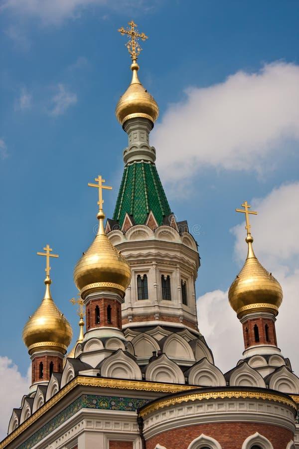 Russische orthodoxe Kirche stockbilder