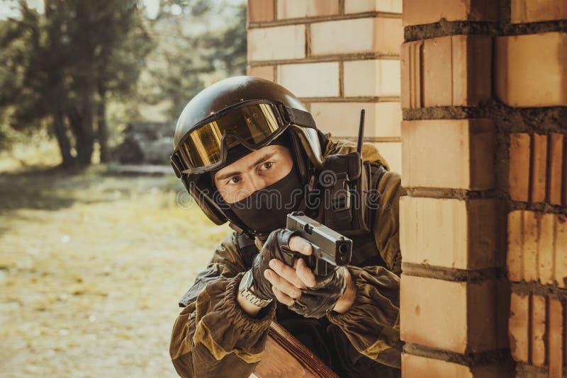 Russische politie speciale kracht stock fotografie