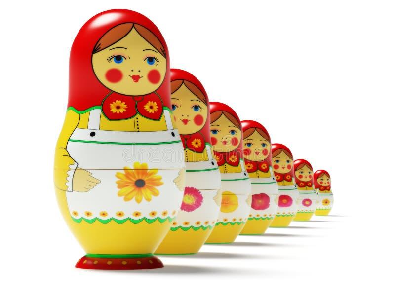 Russische poppen vector illustratie