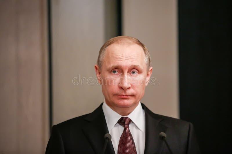 Russische President Vladimir Putin in Athene stock afbeeldingen