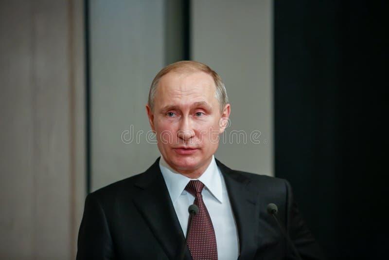 Russische President Vladimir Putin in Athene royalty-vrije stock foto's