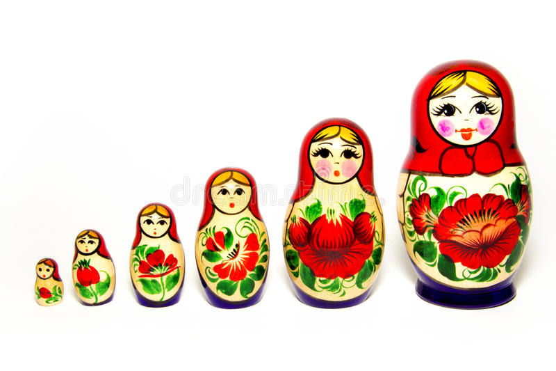 Russische Puppen lizenzfreies stockfoto