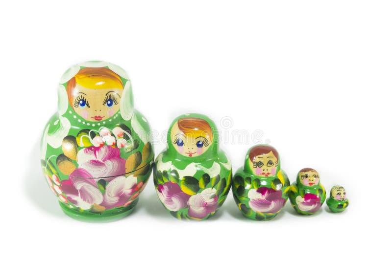Russische Puppen getrennt lizenzfreie stockbilder