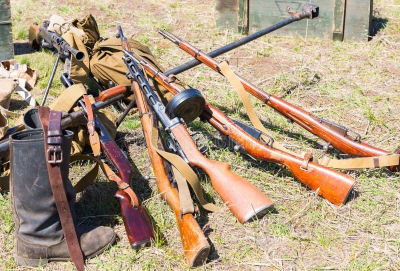 Russische retro wapens Steekproeven van Sovjetlichte wapens royalty-vrije stock foto