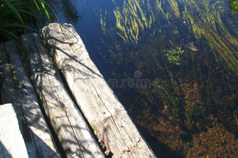 Russische rivier stock afbeelding