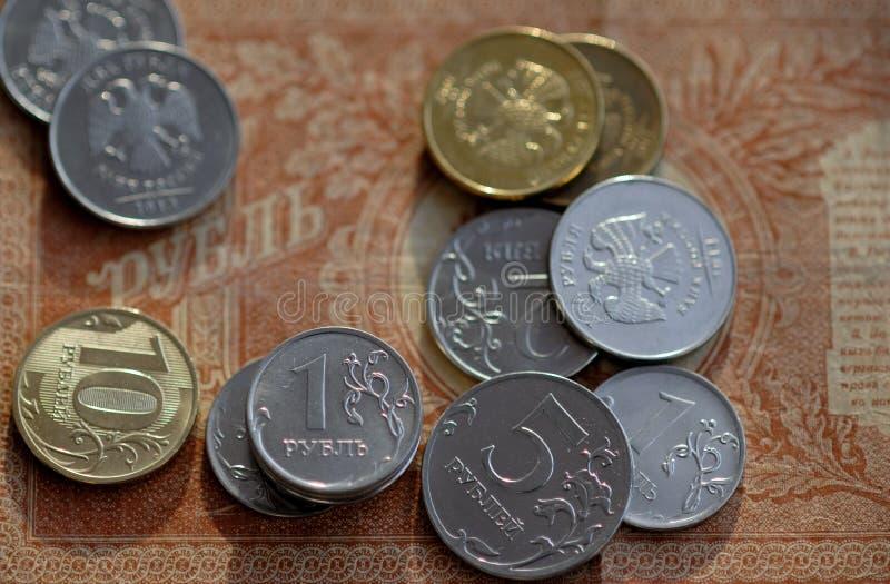 Russische roebel royalty-vrije stock foto