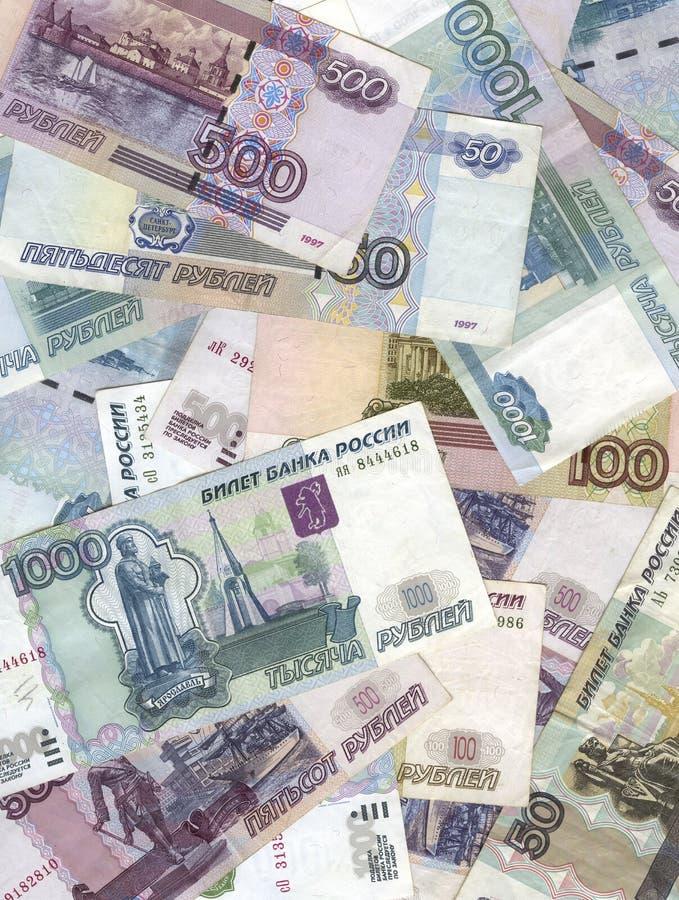 Russische roebels stock afbeeldingen