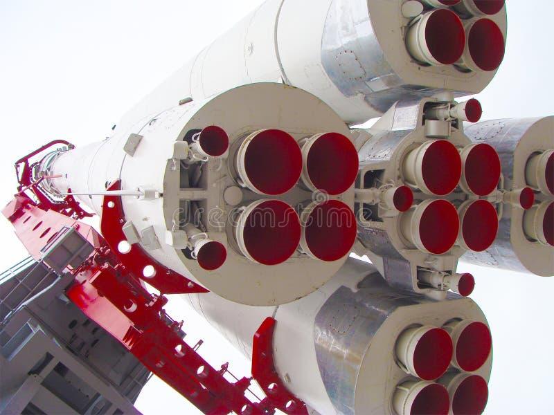 Russische ruimteschipraket in museum stock foto's
