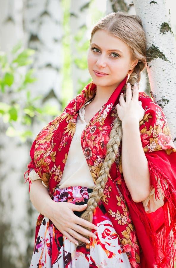 Russische schoonheid royalty-vrije stock foto's