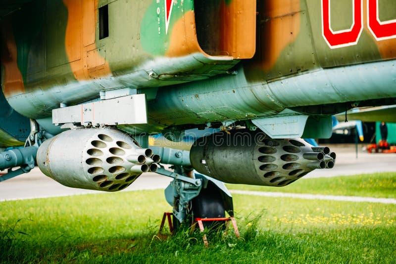 Russische Sovjetmikoyan mig-27 is een variabele stock afbeeldingen