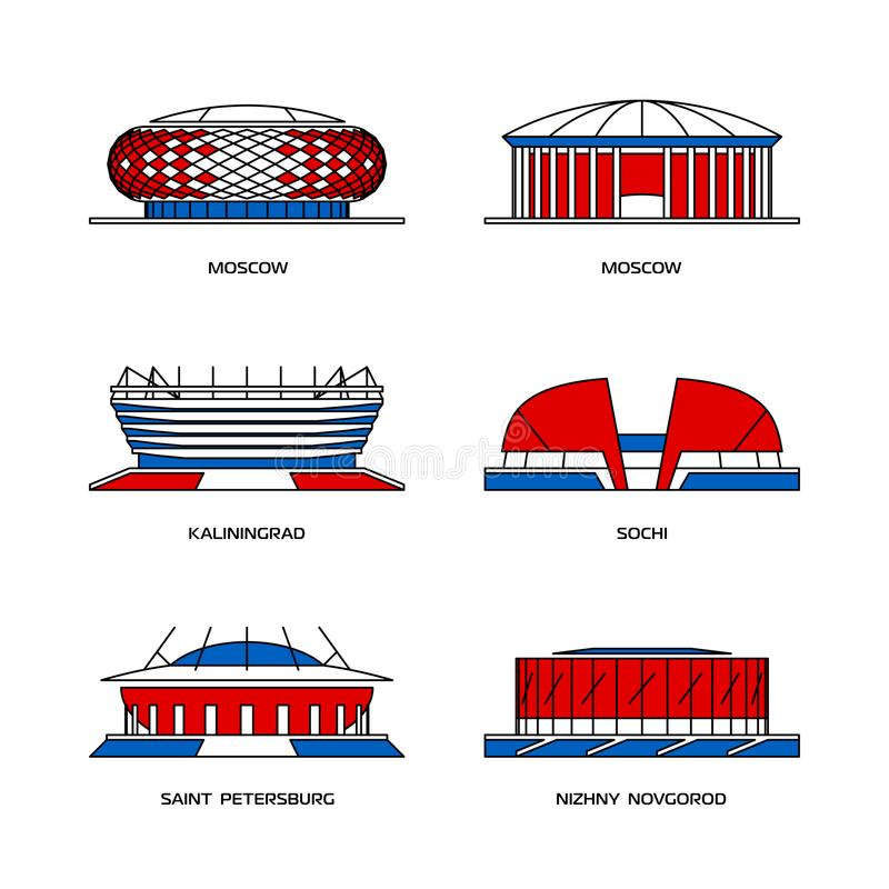 Russische Sportstadien vektor abbildung