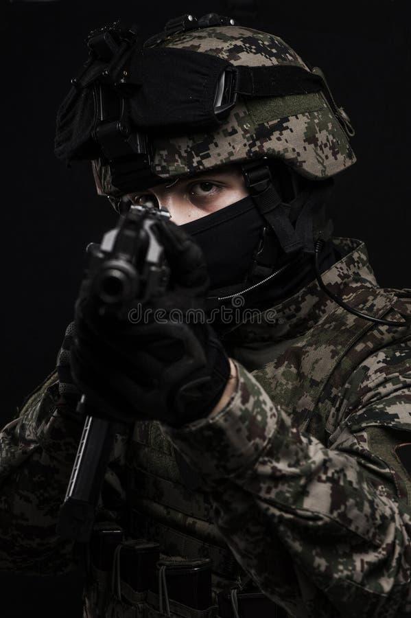 Russische strijdkrachten stock foto