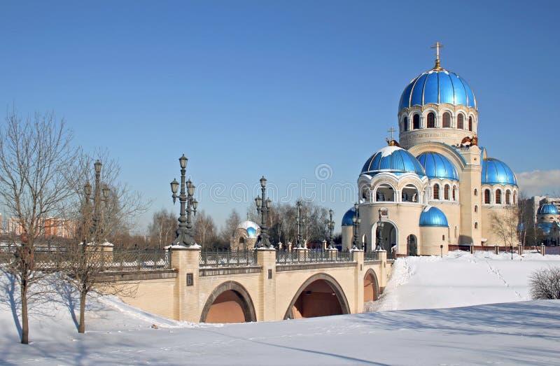 Russische tempel royalty-vrije stock afbeelding