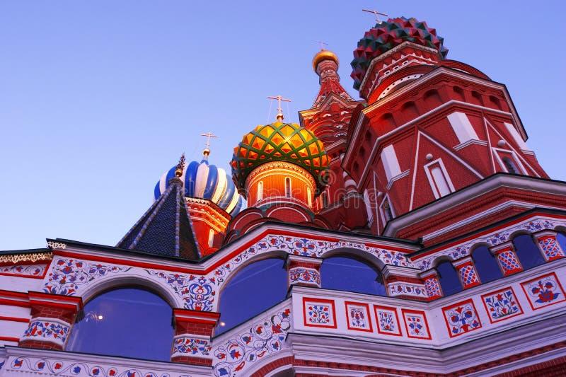 Russische tempel in de stad van Moskou royalty-vrije stock foto