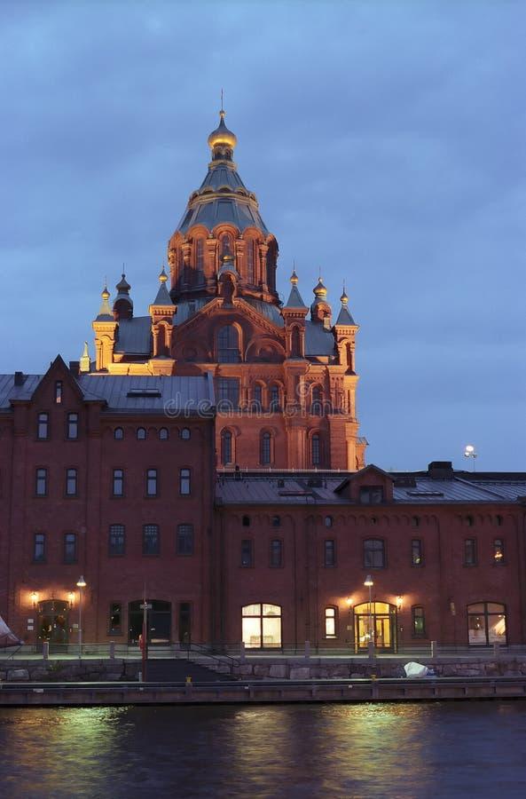 Russische tempel. Helsinki royalty-vrije stock foto