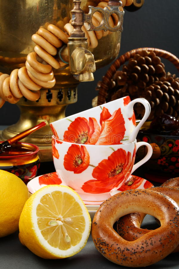 Russische thee. royalty-vrije stock afbeelding
