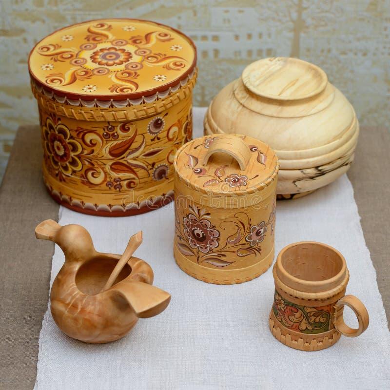 Russische traditionele ambachten stock foto