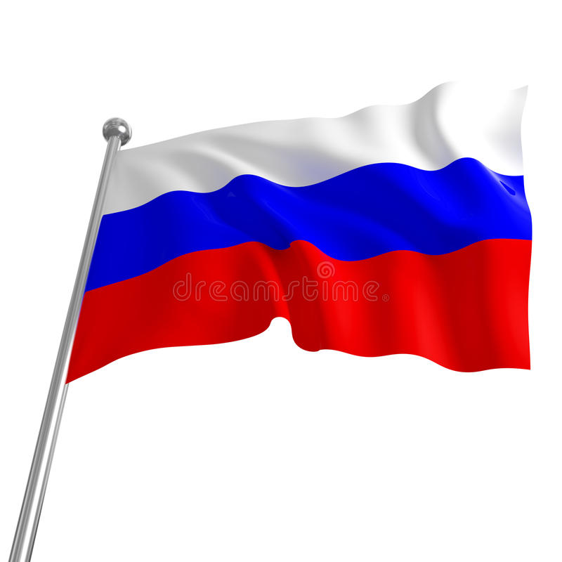 Russische vlag royalty-vrije illustratie
