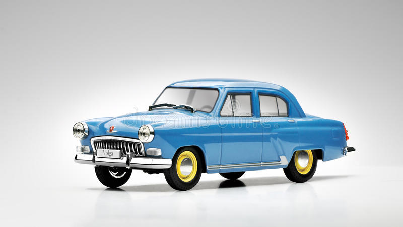 Russische voertuigvolga stuk speelgoed auto stock foto