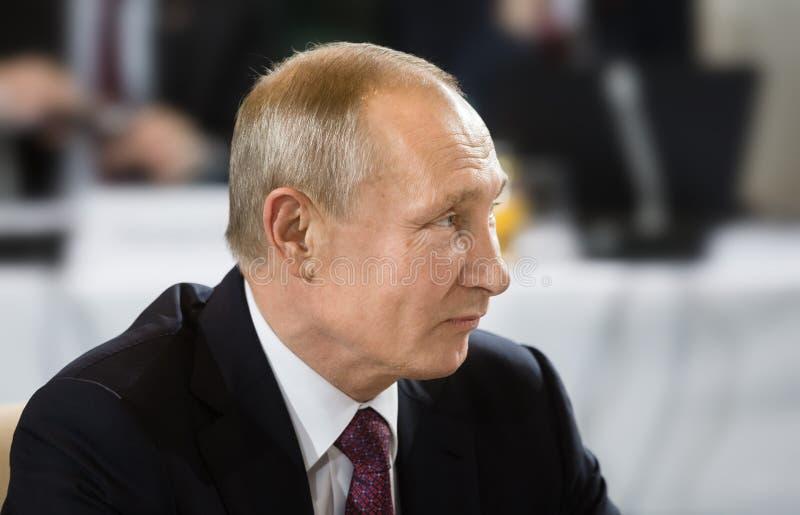 Russische voorzitter Vladimir Putin stock afbeelding