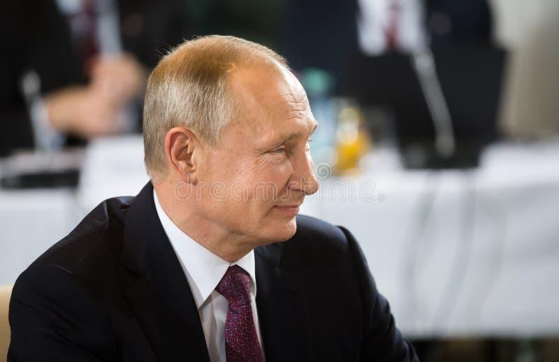 Russische voorzitter Vladimir Putin stock foto's